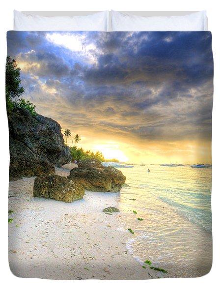 Morning Glow Duvet Cover by Yhun Suarez