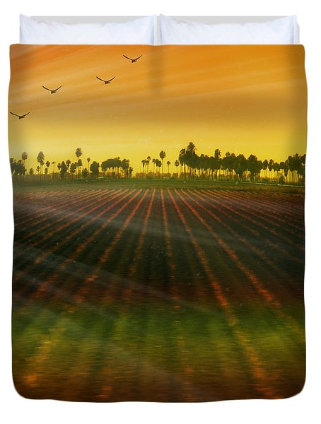 Morning has broken Duvet Cover by Holly Kempe