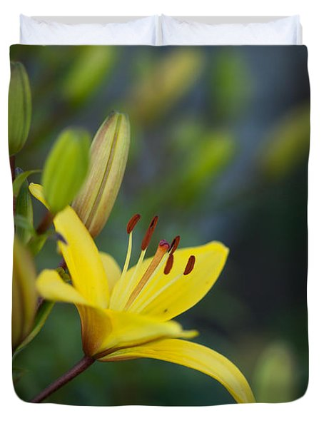 Morning Lily Duvet Cover by Mike Reid