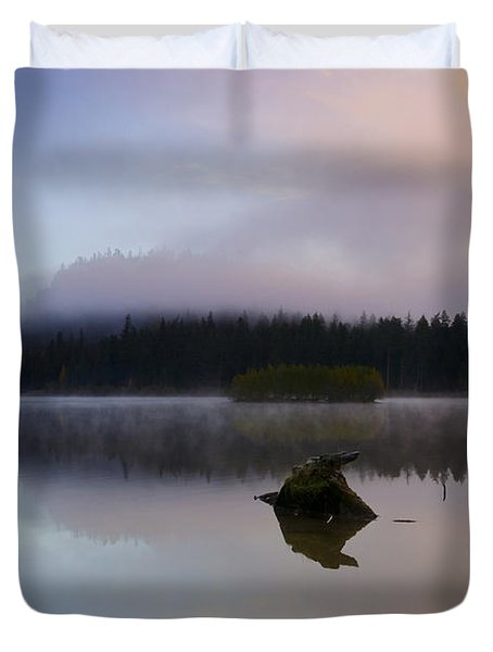 Morning Mist Burning Duvet Cover by Mike  Dawson