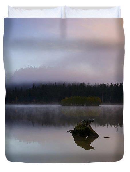 Morning Mist Burning Duvet Cover by Mike  Dawson