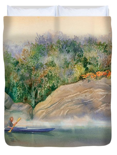 Morning Mist High Island Duvet Cover by Marguerite Chadwick-Juner