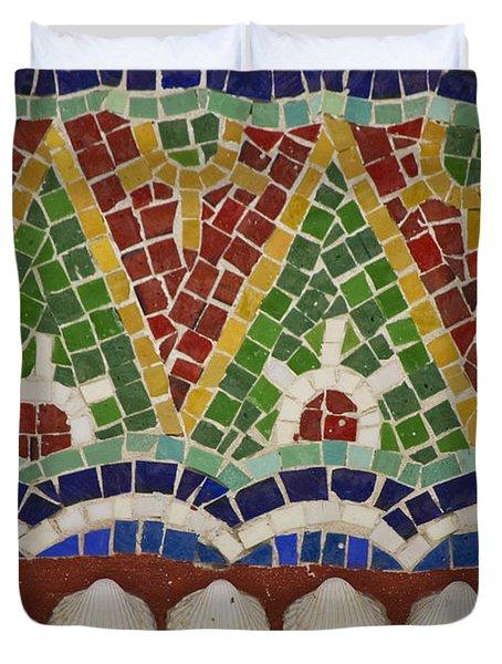 Mosaic Fountain Pattern Detail 4 Duvet Cover by Teresa Mucha