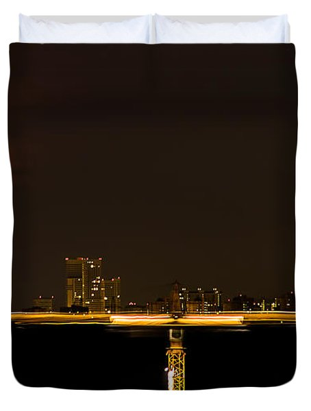 Moscow By Night Duvet Cover by Stelios Kleanthous