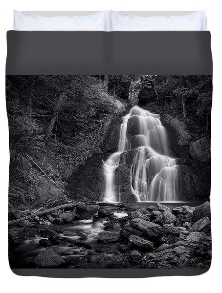 Moss Glen Falls - Monochrome Duvet Cover by Stephen Stookey