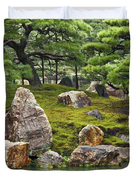 Mossy Japanese Garden Duvet Cover by Carol Groenen
