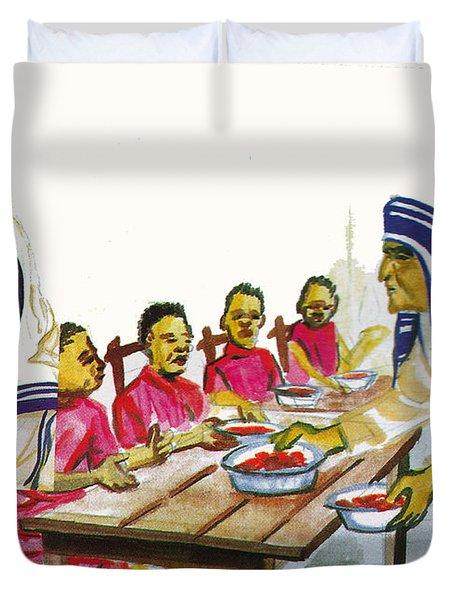 Mother Teresa Duvet Cover by Emmanuel Baliyanga