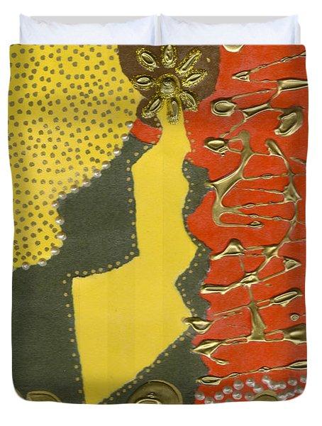 Mother's Earring Duvet Cover by Angela L Walker