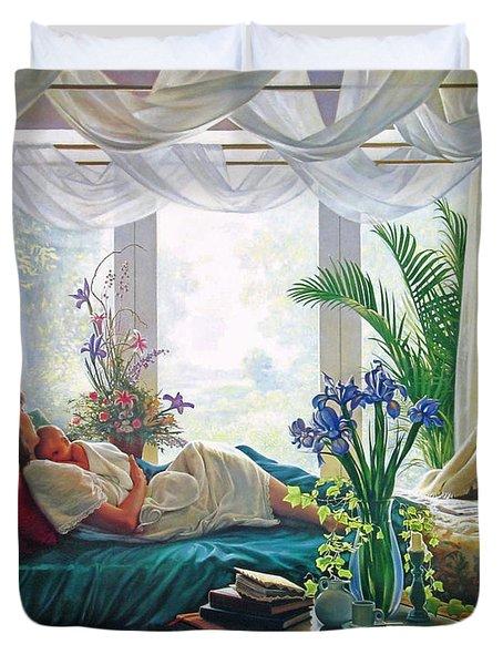 Mother's Love Duvet Cover by Greg Olsen