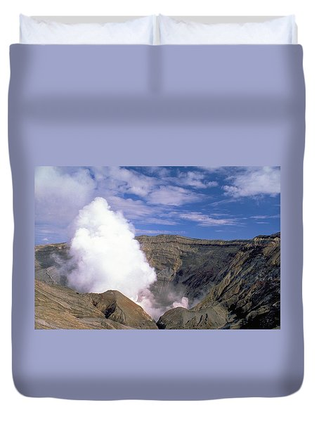 Duvet Cover featuring the photograph Mount Aso by Travel Pics