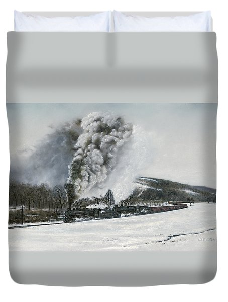 Mount Carmel Eruption Duvet Cover by David Mittner