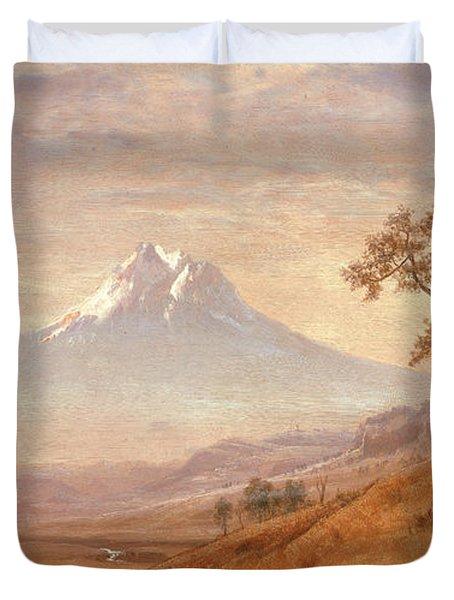 Mount Hood Duvet Cover by Albert Bierstadt