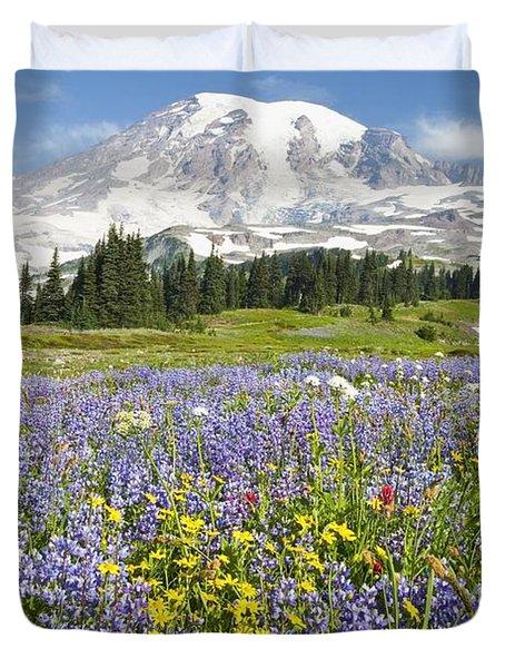 Mount Rainier National Park Duvet Cover by Craig Tuttle