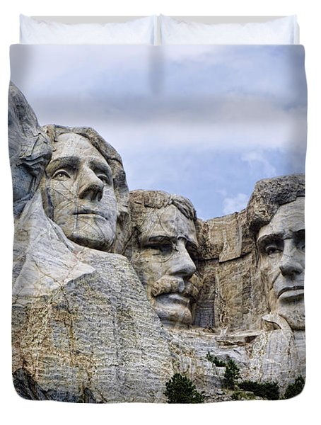 Mount Rushmore National Monument Duvet Cover by Jon Berghoff