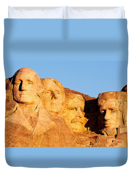 Mount Rushmore Duvet Cover by Todd Klassy
