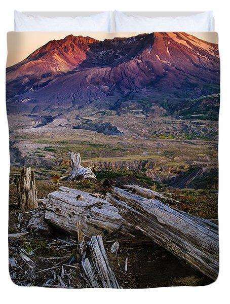 Mount St. Helens Sunset Duvet Cover by Greg Vaughn - Printscapes