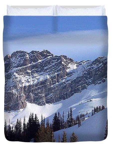 Mountain High - Salt Lake UT Duvet Cover by Christine Till