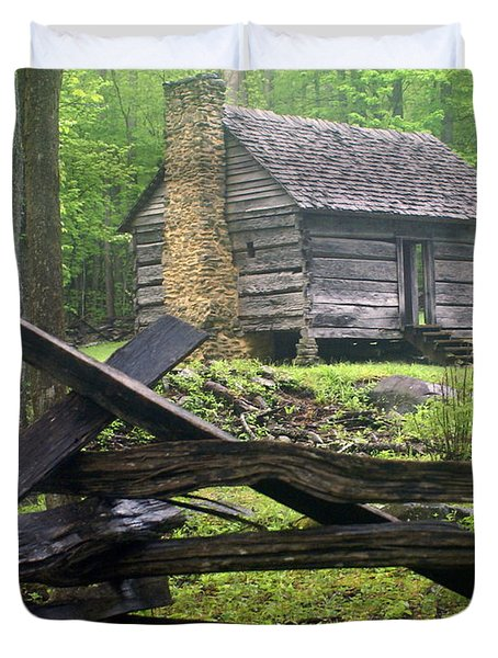 Mountain Homestead Duvet Cover by Marty Koch