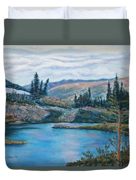 Mountain Lake Duvet Cover by Mary Benke
