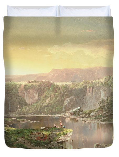 Mountain Lake Near Piedmont Duvet Cover by William Sonntag