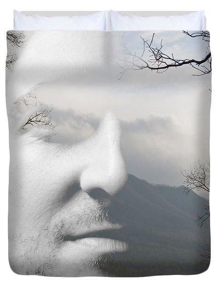 Mountain Man Duvet Cover by Christopher Gaston