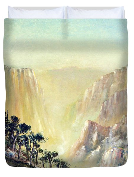 Mountain of The Horses 1989 Duvet Cover by Wingsdomain Art and Photography