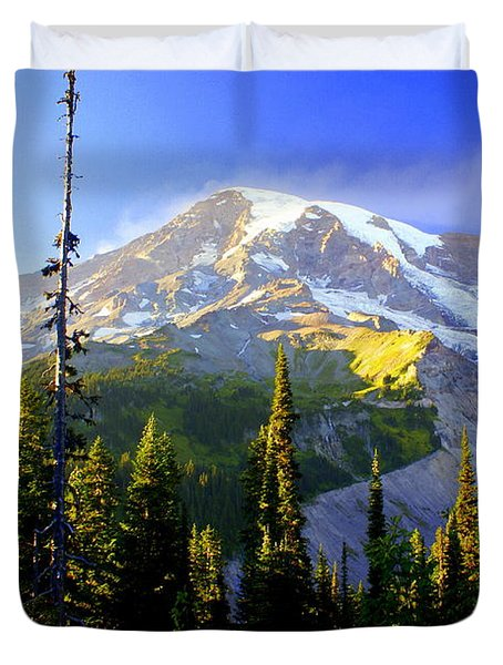 Mountain Sunset Duvet Cover by Marty Koch