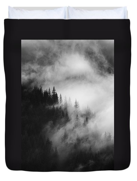 Mountain Whispers Duvet Cover by Mike  Dawson