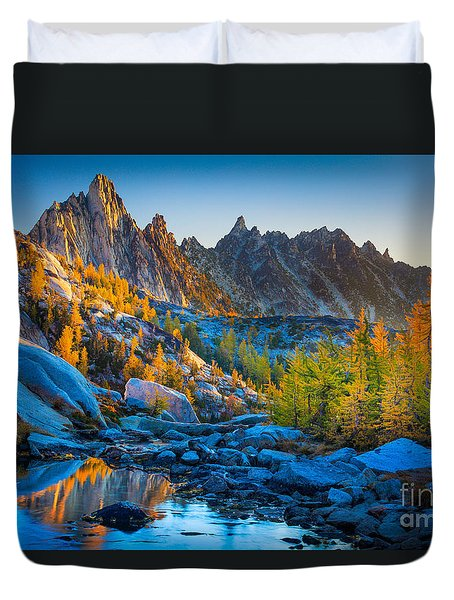 Mountainous Paradise Duvet Cover by Inge Johnsson