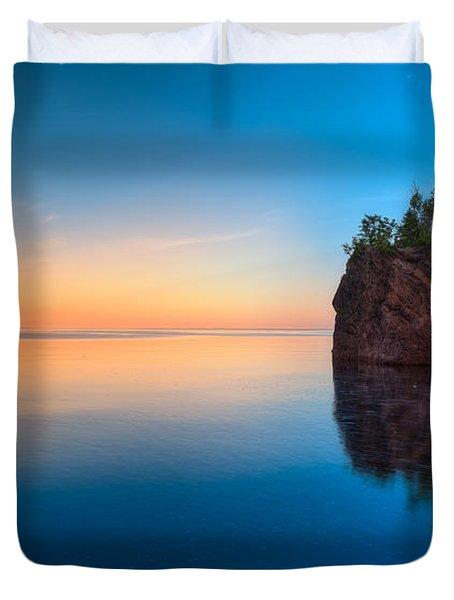 Mouth Of The Baptism River Minnesota Duvet Cover by Steve Gadomski