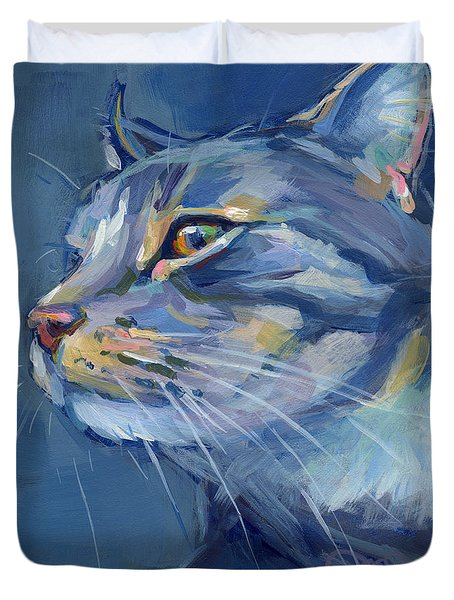 Mr. Waffles Duvet Cover by Kimberly Santini