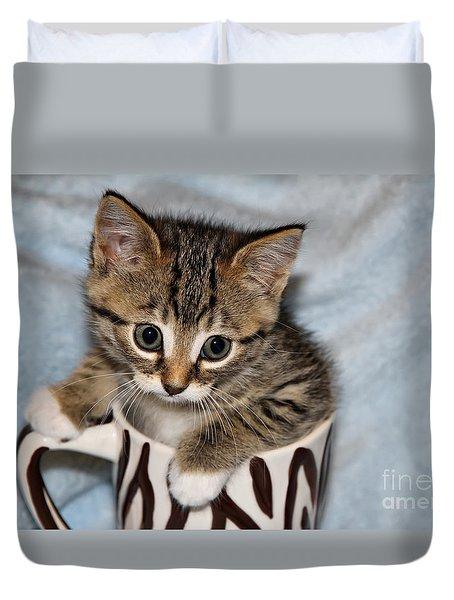 Mug Kitten Duvet Cover by Teresa Zieba