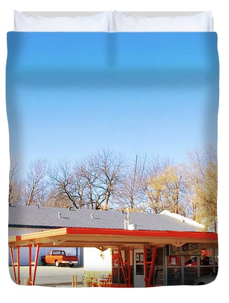 Mugs Up Root Beer Duvet Cover by Andee Design