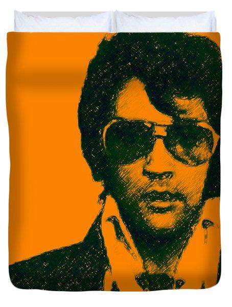Mugshot Elvis Presley Duvet Cover by Wingsdomain Art and Photography