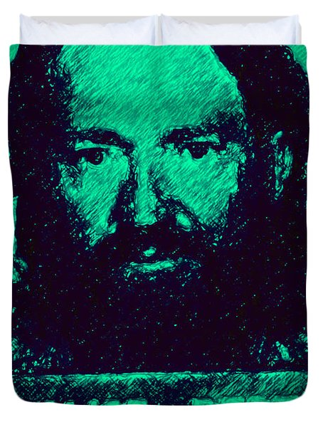 Mugshot Willie Nelson p28 Duvet Cover by Wingsdomain Art and Photography