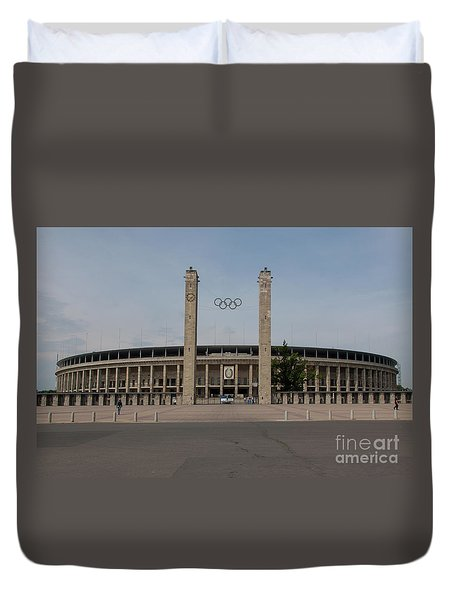 Berlin Olympic Stadium Duvet Cover by Stephen Smith