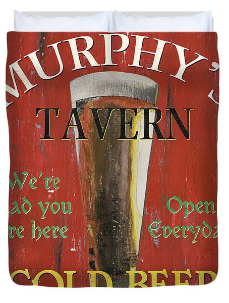 Murphy's Tavern Duvet Cover by Debbie DeWitt
