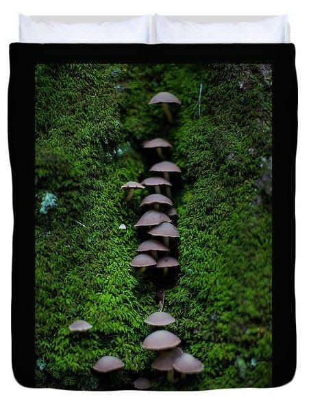 Mushroom Fall Duvet Cover by Jeff Klingler
