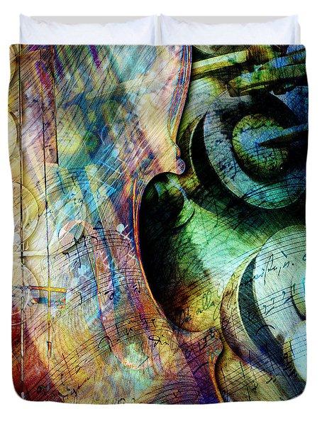 Music II Duvet Cover by Barbara Berney