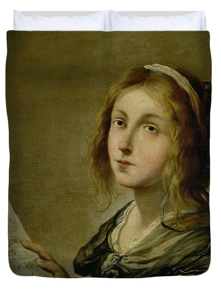 Music Duvet Cover by Salvator Rosa