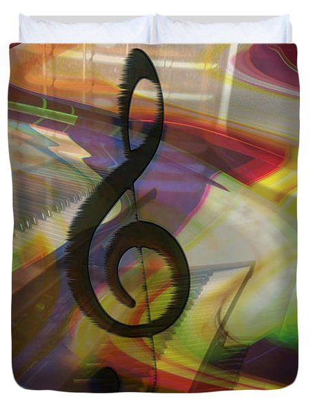 Musical Waves Duvet Cover by Linda Sannuti