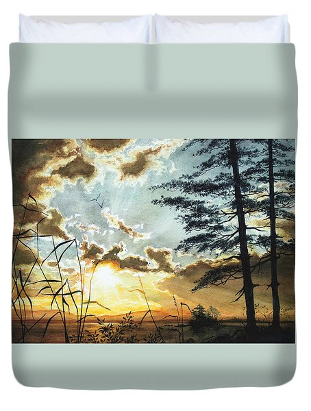 Muskoka Dawn Duvet Cover by Hanne Lore Koehler