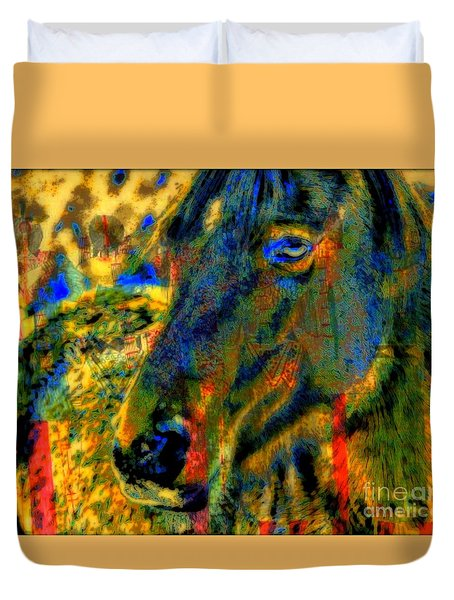 Mustang, A Tribute to Hidalgo Duvet Cover by WBK