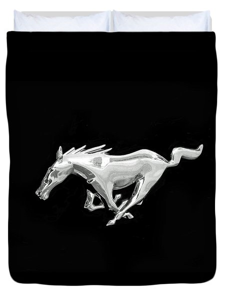 Mustang Duvet Cover by Rona Black