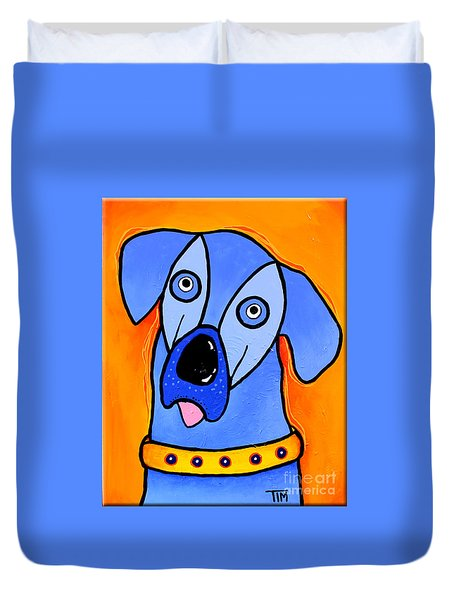 My Brother Is Blue Too Duvet Cover by Tim Ross