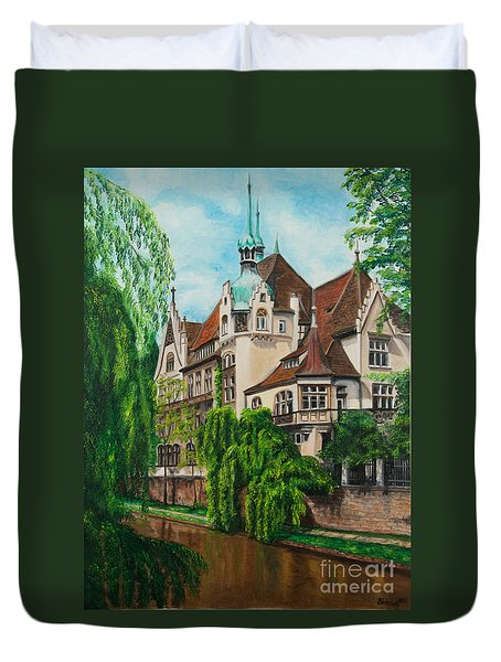 My Dream House Duvet Cover by Charlotte Blanchard
