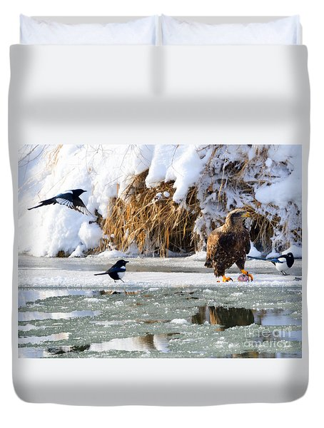 My Lunch Duvet Cover by Mike Dawson