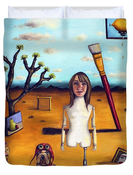 My Surreal Life Duvet Cover by Leah Saulnier The Painting Maniac
