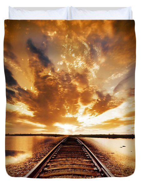 My Way Duvet Cover by Photodream Art