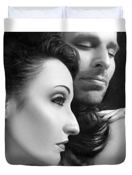 Mysterious Love  Duvet Cover by Jaeda DeWalt